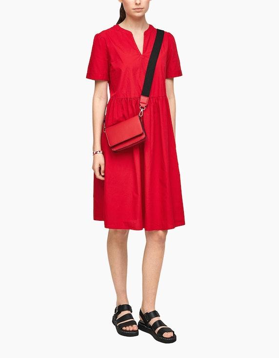 s.Oliver Kleid mit Tunika-Ausschnitt, reine Baumwolle | ADLER Mode Onlineshop