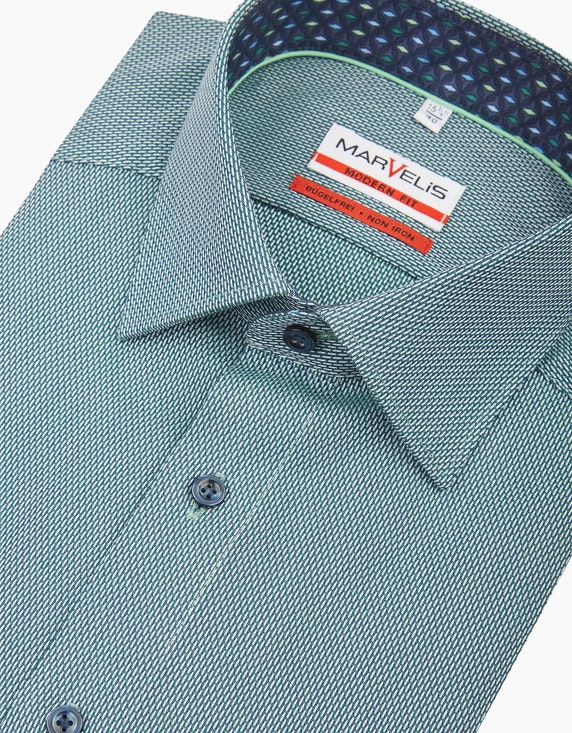 Marvelis Gemustertes Dresshemd in bügelfreier Qualität, MODERN FIT | ADLER Mode Onlineshop
