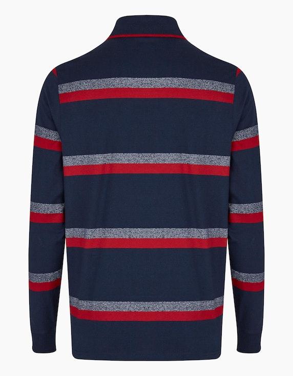 Bexleys man Langarm-Poloshirt mit schmalem Streifenmuster | ADLER Mode Onlineshop