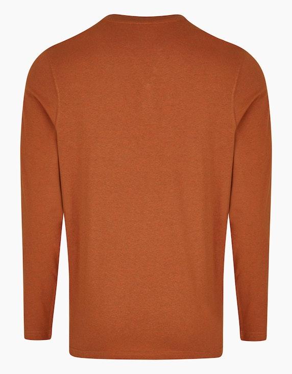 Bexleys man Langarmshirt mit Fineliner-Streifen und Henley-Ausschnitt | ADLER Mode Onlineshop