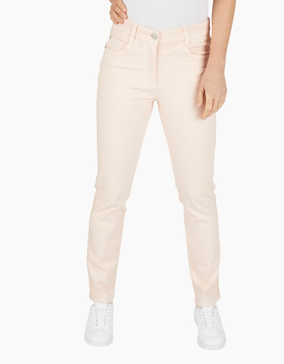 Bexleys woman Hose mit Galonstreifen im Glitzerlook in Apricot | ADLER Mode Onlineshop