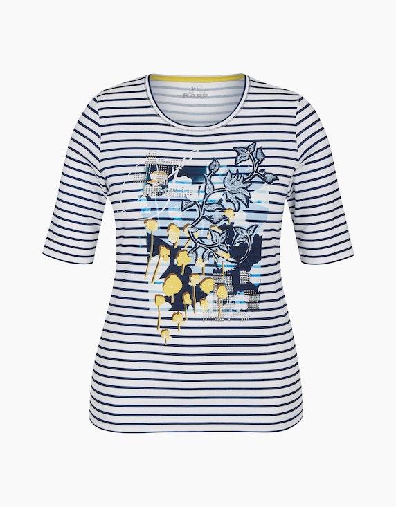 Rabe Shirt mit Streifen und Druckmotiv | ADLER Mode Onlineshop