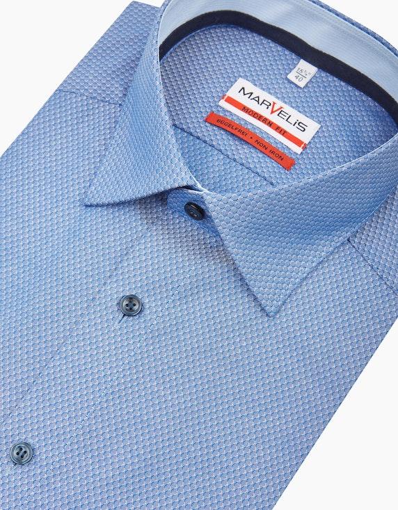 Marvelis Fein gemustertes Dresshemd, MODERN FIT | ADLER Mode Onlineshop