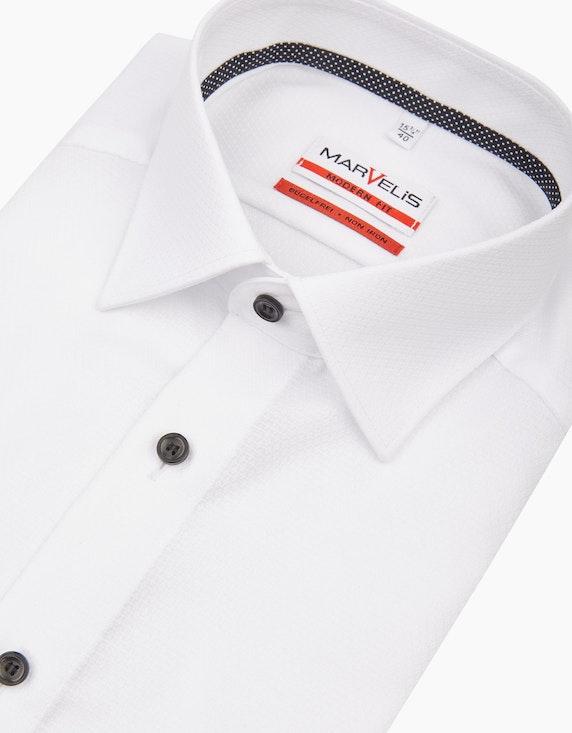 Marvelis Dresshemd mit Struktur, MODERN FIT | ADLER Mode Onlineshop