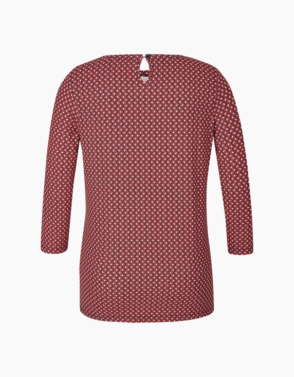 Bexleys woman Shirt mit Allover-Print und Ärmeln in 3/4 Länge | ADLER Mode Onlineshop
