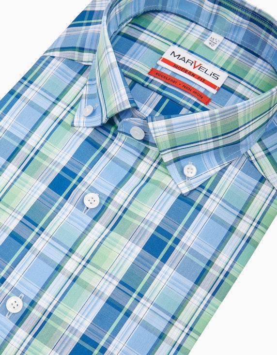 Marvelis Modisch kariertes Dresshemd, MODERN FIT | ADLER Mode Onlineshop