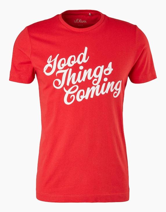 s.Oliver Jerseyshirt mit Statement-Print   ADLER Mode Onlineshop