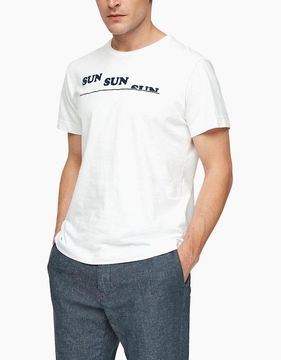 s.Oliver Jerseyshirt mit Schriftprint | ADLER Mode Onlineshop