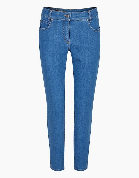 "Steilmann Woman 7/8 Powerstretch-Hose ""Pamela"" in Blue Denim | ADLER Mode Onlineshop"