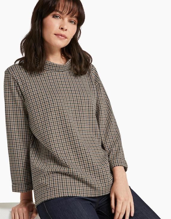 Tom Tailor Jaquard-Sweatshirt mit Rollkragen | ADLER Mode Onlineshop