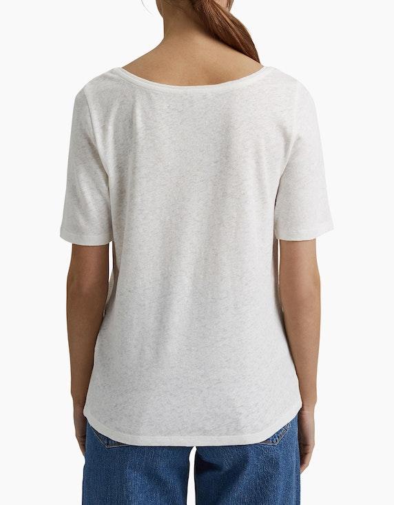 Esprit Basic-T-Shirt mit Leinen | ADLER Mode Onlineshop