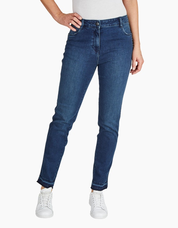 Bexleys woman Jeans mit ausgelassenem Saum | ADLER Mode Onlineshop