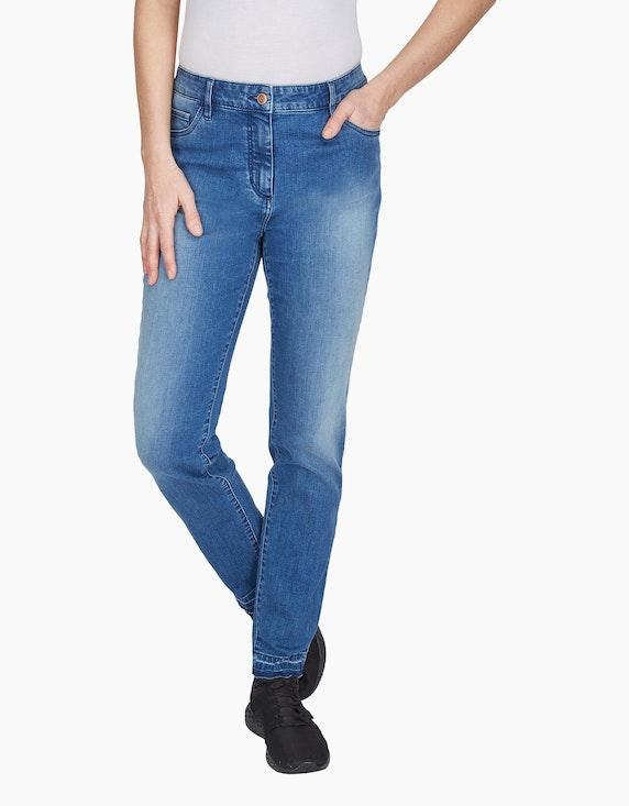 Bexleys woman Jeans mit offener Saumkante | ADLER Mode Onlineshop