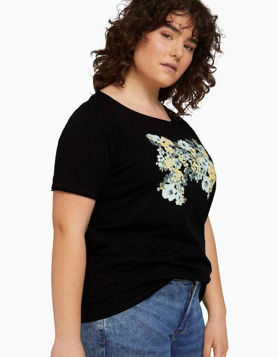 My True Me T-Shirt mit Blumenprint aus Bio-Baumwolle | ADLER Mode Onlineshop