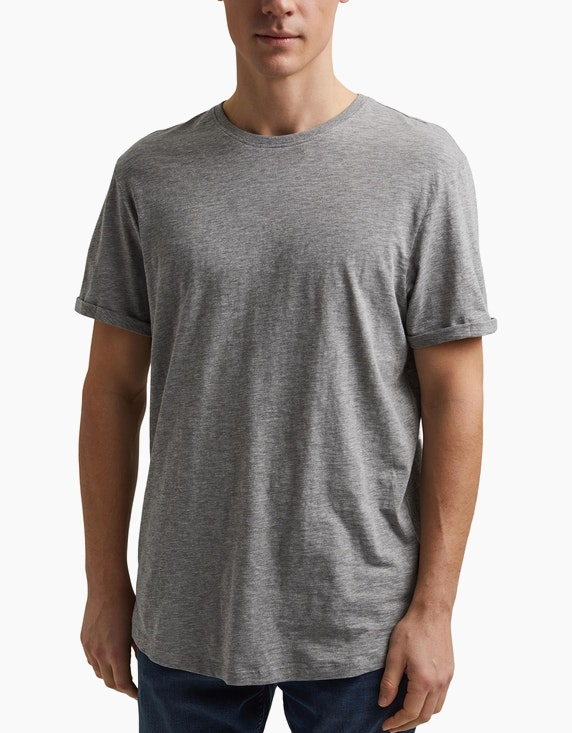 Esprit EDC T-Shirt aus nachhaltigem Material-Mix | ADLER Mode Onlineshop