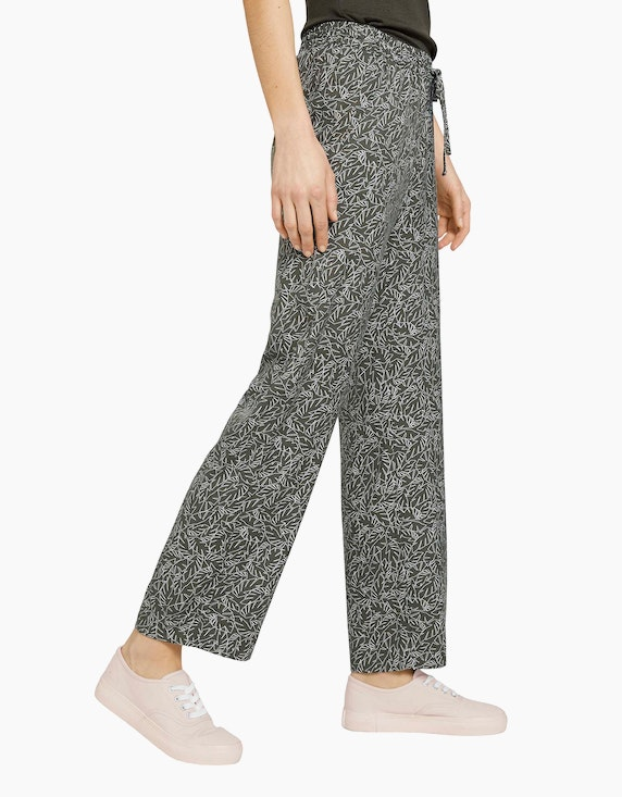 Tom Tailor Gemusterte Loose Fit Hose | ADLER Mode Onlineshop