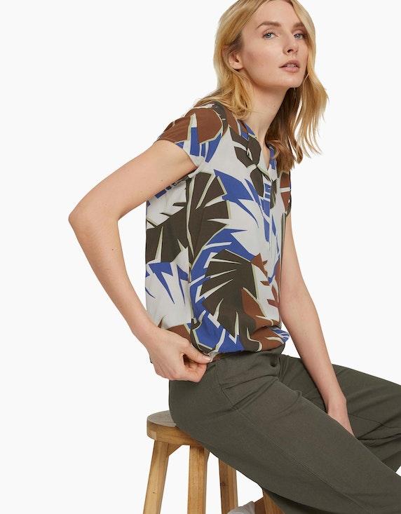 Tom Tailor Gemusterte Bluse mit LENZING™ ECOVERO™ | ADLER Mode Onlineshop