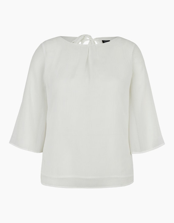 Bexleys woman Chiffonbluse mit Cut-Out und Schleife in Weiß   ADLER Mode Onlineshop