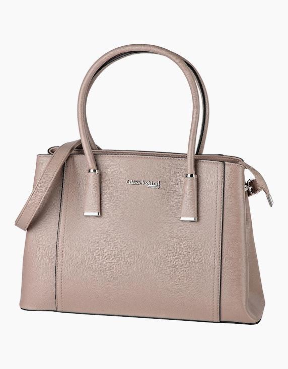 GLÜÜCKSKIND Handtasche in Leder-Optik in Grau | ADLER Mode Onlineshop