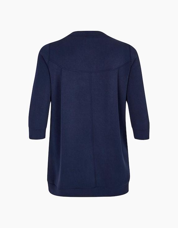 VIA APPIA DUE Langes Sweatshirt mit Einstecktaschen   ADLER Mode Onlineshop