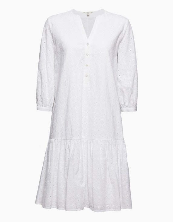 Esprit Kleid mit Volant und Lochstickerei | ADLER Mode Onlineshop