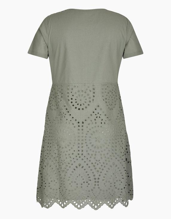 Bexleys woman Baumwoll-Kleid mit Lochstickerei | ADLER Mode Onlineshop