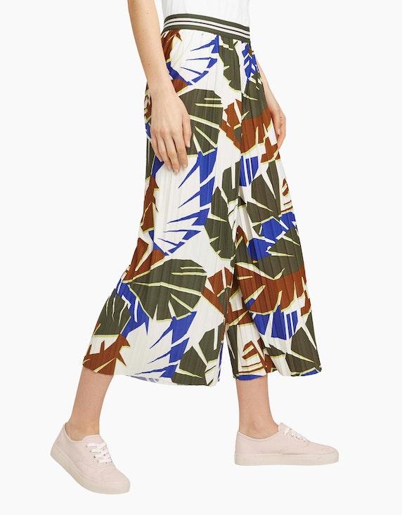 Tom Tailor Plissee Culotte Hose mit Print | ADLER Mode Onlineshop