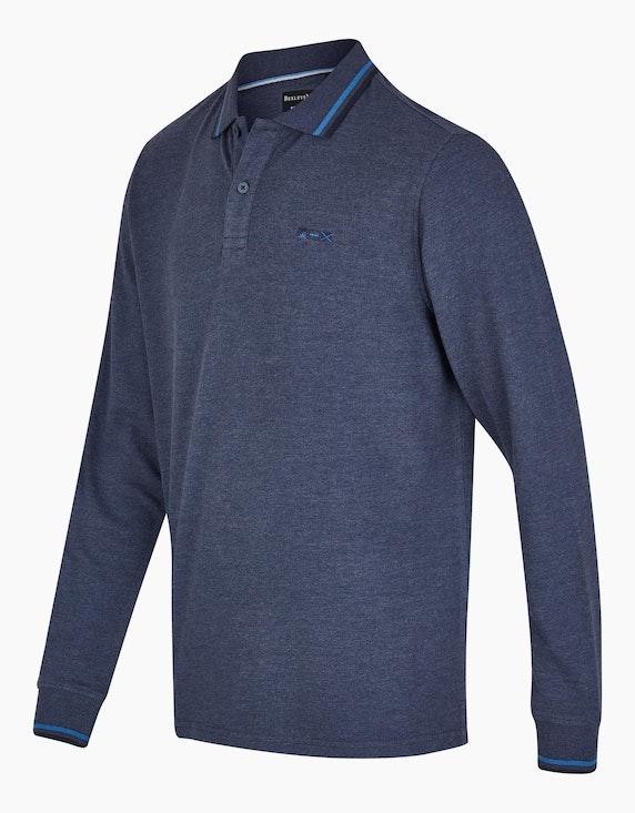 Bexleys man Langarm-Poloshirt mit dezentem Streifenmuster | ADLER Mode Onlineshop
