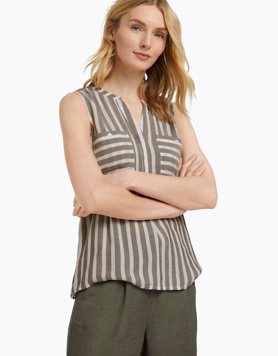 Tom Tailor Ärmellose Bluse mit Streifen | ADLER Mode Onlineshop