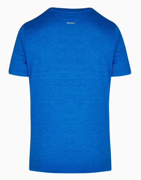 Fit&More Trainings-T-Shirt mit Melange-Effekt | ADLER Mode Onlineshop