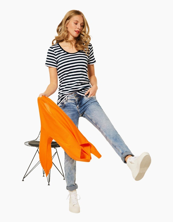 Street One Streifen-Shirt im Basic-Style Gerda | ADLER Mode Onlineshop