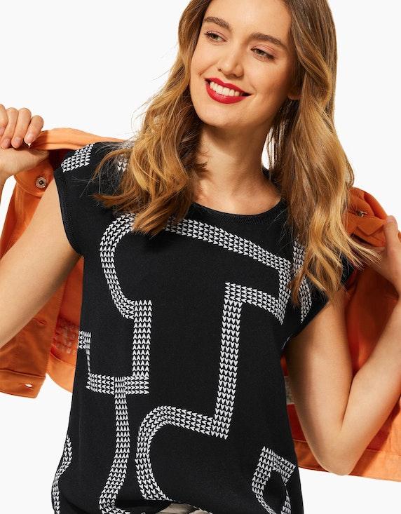 Street One Shirt mit Print im leichten Materialmix | ADLER Mode Onlineshop