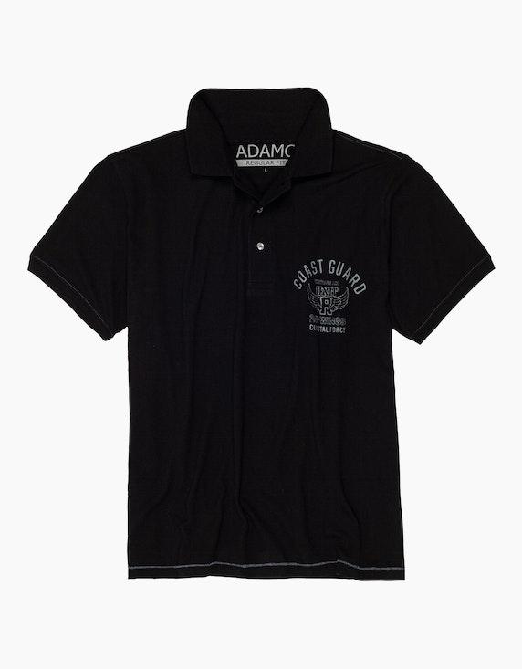 Big Fashion Poloshirt mit Druck auf der Brust | ADLER Mode Onlineshop