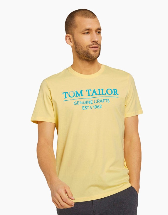 Tom Tailor T-Shirt mit Logo-Print | ADLER Mode Onlineshop