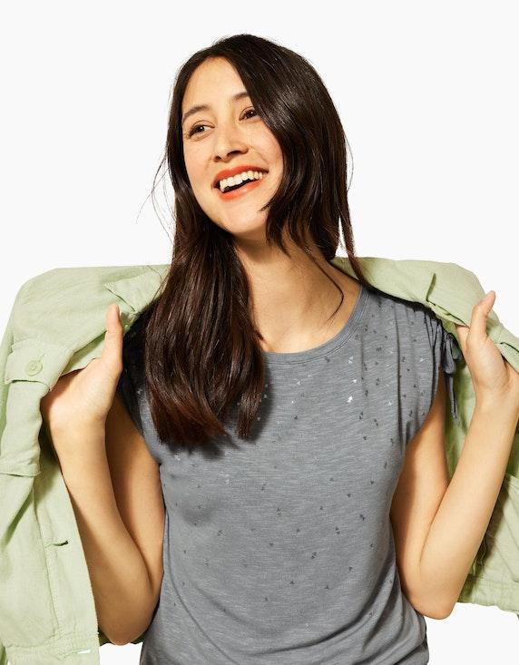 Street One Feinstrick-Shirt mit Folienprint | ADLER Mode Onlineshop