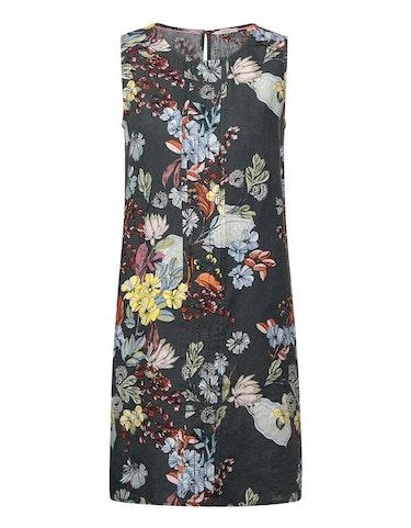 cecil - Ärmelloses Leinen-Kleid mit floralem Muster, XL