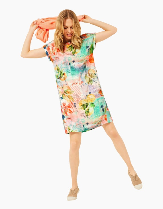 CECIL Buntes Kleid mit sommerlichem Muster, reines Viskose | ADLER Mode Onlineshop