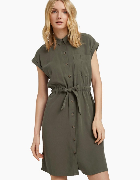 Tom Tailor Utility Blusenkleid mit Bindedetail | ADLER Mode Onlineshop