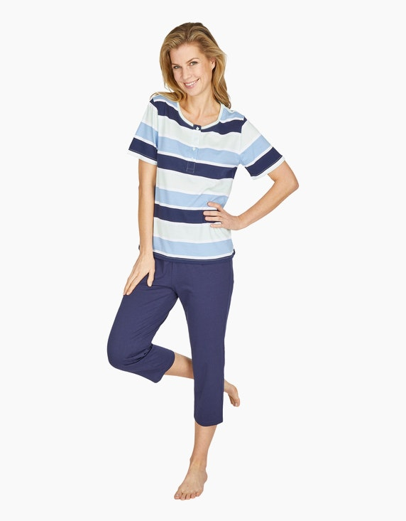 Bexleys woman Pyjama mit Caprihose | ADLER Mode Onlineshop
