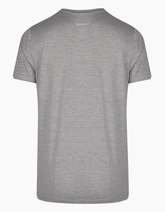 Fit&More Trainings-T-Shirt mit Melange-Effekt | ADLER Mode Onlineshop