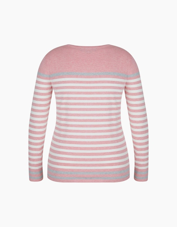 Bexleys woman Pullover mit Kontraststreifen in Silber | ADLER Mode Onlineshop