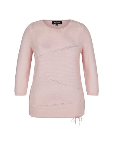bexleys woman - Pullover mit Strukturstreifen und Strass, L