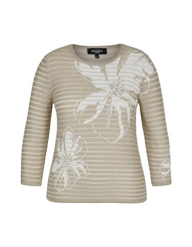 bexleys woman - Pullover mit Streifen und Blumen, XL