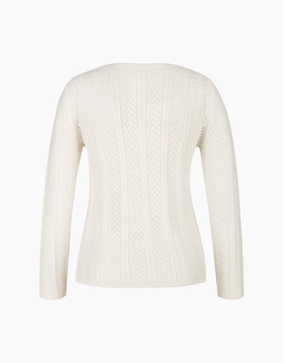 MY OWN Ajour-Pullover aus recyceltem Polyester | ADLER Mode Onlineshop