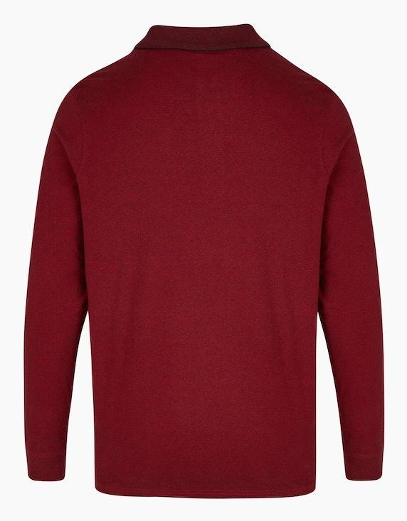 Bexleys man Basic-Poloshirt mit langem Arm | ADLER Mode Onlineshop