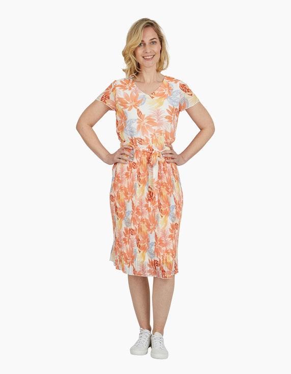 Steilmann Woman Chiffonkleid mit exotischem Druck | ADLER Mode Onlineshop