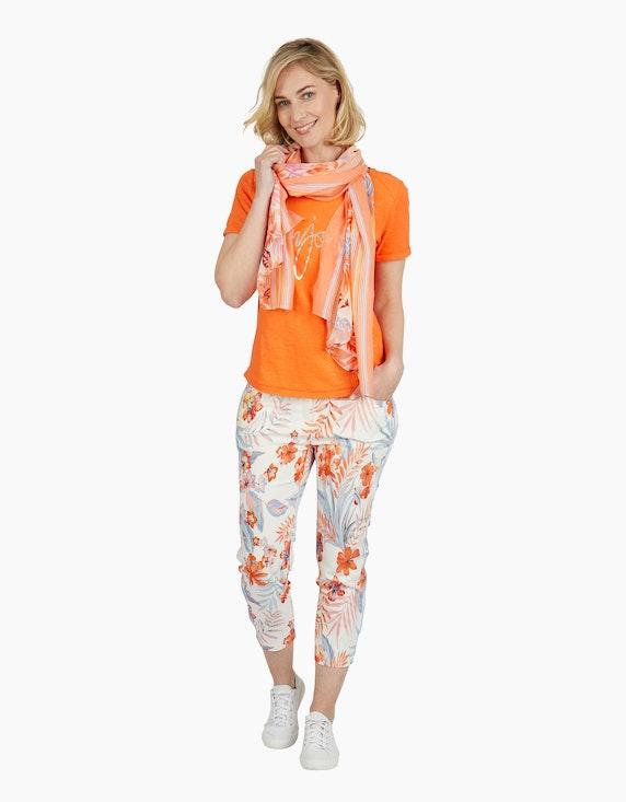 Steilmann Woman Schal mit exotischem Druck | ADLER Mode Onlineshop