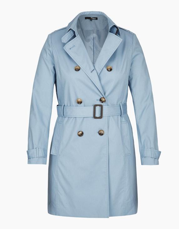 MY OWN Trenchcoat mit doppelreihiger Knopfleiste in Hellblau | ADLER Mode Onlineshop