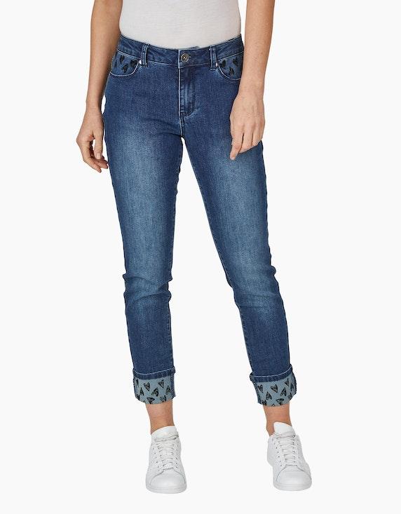 MY OWN Jeans mit Flock-Print   ADLER Mode Onlineshop