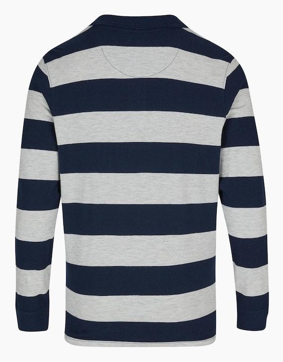 Bexleys man Langarm-Poloshirt mit Blockstreifen | ADLER Mode Onlineshop